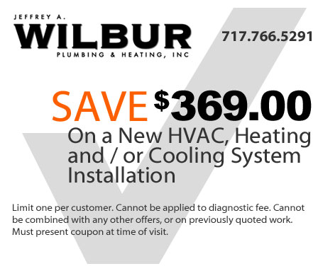 save 369 dollars on a new hvac, heating and or cooling system installation